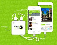 ChargeMeUp Branding, Mobile App and Website