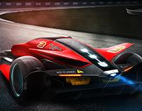 Plasma Jet Supersonic Racecar