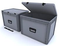 PLASTIC CONTAINER - 3 - CRATE 600x400mm