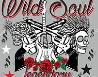 Tattoo tribal wild tiger, skull and rose vector art