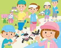JR Kyushu Ogi-shi Walking Event Poster