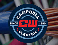 CW Campbell Electric Logo and Website Design