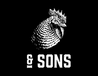 Chicken & Sons Brand identity