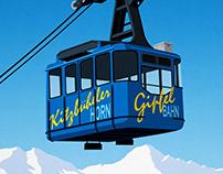 Kitzbuhel Ski Resort Poster