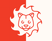 Flame Lion Games Brand Identity