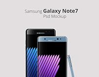 Samsung Galaxy Note7 Psd Mockup
