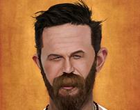 "Tom Hardy  ""Digital caricature"""