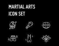 Martial arts academy – icon set