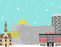 Xmas in the city card design (Birmingham)