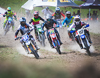 Blue Wing Honda Motocross