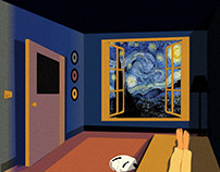 An Illustration for Van Gogh - The Starry Night