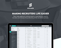Making a recruiter's life easy