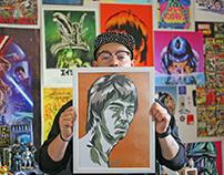 Bruce Lee Pop Art Portrait