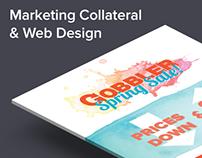 Marketing Collateral & Web Design for Gobbler