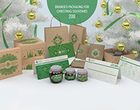 Branded packaging for Christmas souvenirs