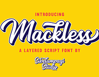 Mackless + Extruded Font FREE DEMO VERSION