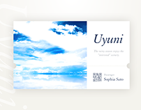 Uyuni salt lake travel ticket interface.