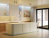 Bayview One Kitchen   Rendler Studio