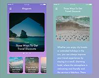 Vibrant Blog UI