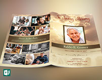 Forever Funeral Program Publisher Template