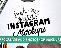 Instagram Mockups for Procreate and Photoshop