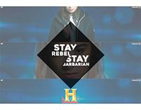 Stay Rebel, Stay Barbarian - Masthead e banner