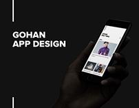 GOHAN - App Design
