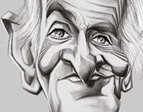 louis de Funes Caricature