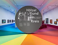 """""""Hölzel und sein Kreis"""" – Exhibition Design"""