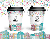Limited edition design & illustration for coffee cups