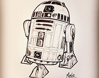 Drawing of R2D2