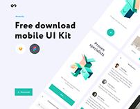 Free download mobile UI Kit