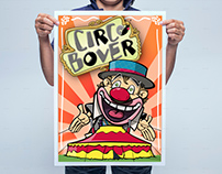 "Poster and ilustrations for a circus ""Circ Bover"""