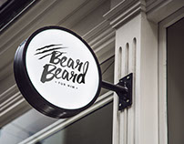 Logotype for bear beard.