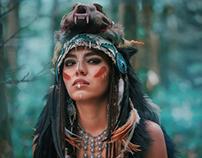 Futuristic indian woman portrait