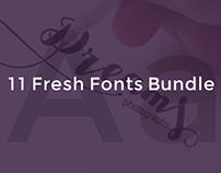 11 Fresh Fonts Bundle