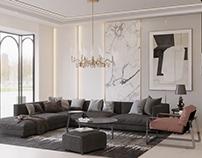 Modern Living Area - Jahra Kuwait