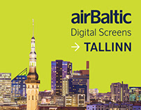 airBaltic Digital Screens in Tallinn