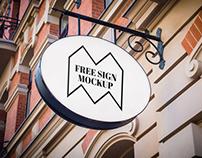 50+ Street & Facade Sign PSD Mockup Templates