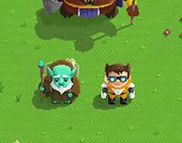 Pixel art game concept