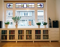 Bookcase installed on location