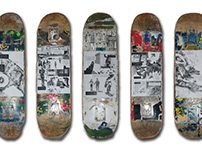 On the street | Contemplative skateboarder comic