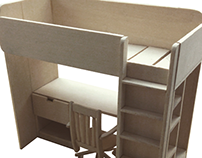 Model Ikea Stuva Loft Bed/Desk Combo