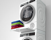 3D vis Bosch washing machine & cloth dryer