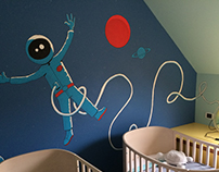 Mural in kids room