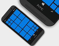 PSD Mockup HTC One For Windows Phone