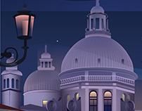 Venice vector poster