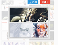 Free 8 Facebook Cover PSD Template