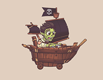 Zombie Coaster Game Art