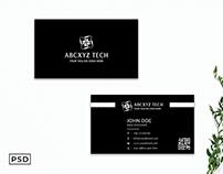 Free Black Modern Business Card Template